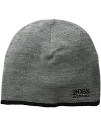 Lyst - BOSS Beanie Hat In Mouliné Cashmere in Natural for Men b4b02145f052