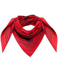 MCM - Project (red) Cotton Bandana Logo Scarf, Ruby, One Size - Lyst