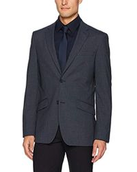 Perry Ellis - Slim Fit, Stretch Heather Check Jacket - Lyst