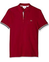 b51c99c4622dea Lacoste - Short Sleeve Semi Fancy Petit Pique Slim Polo