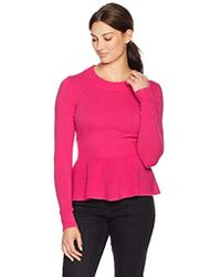 Lark & Ro - Sweaters Peplum Cashmere Sweater - Lyst