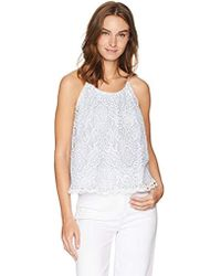 d499eb4505 Everlane The Double-lined Silk V-neck Tank in White - Lyst