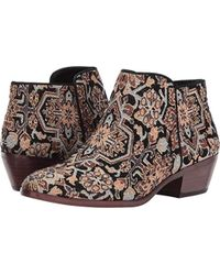 bfd4c6388 Lyst - Sam Edelman Petty Short Fleece Lined Ankle Boots