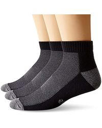 Ecco - 3-pack Ankle With Mesh Top Sock - Lyst