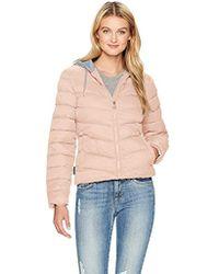 Madden Girl - Bomber Jacket With Fleece Hood - Lyst