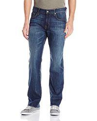 7 For All Mankind - Carsen Easy Straight Leg Jeans In Ventura Ave - Lyst