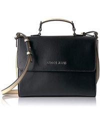 3a6560eb0b5 Lyst - Armani Jeans White   Black Reptile Cross-body Bag
