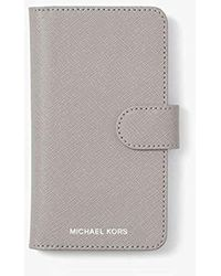 sports shoes 437df b6409 Michael Kors Perforated Leather Folio Phone Case For Iphone 7 in ...