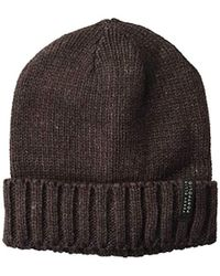 23852f373b150 Lyst - True Religion Chunky Ribbed Knit Beanie in Black for Men