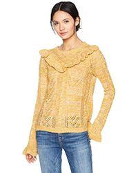 Kensie - Ruffle Pullover Sweater - Lyst