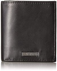 Ben Sherman - Hackney Full Grain Cowhide Leather Slim Square Passcase Wallet With - Lyst