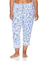 f021e5b4d20 Ellen Tracy - Plus Size Cropped Leg Pajama Pant - Lyst