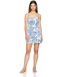 5be21005b9d3 Lyst - Lilly Pulitzer Calla Off The Shoulder Romper in Blue