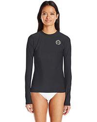 13b12a8593b26 Mermaid Maternity Long Sleeve Upf 50+ Rashguard Swim Shirt in Black ...