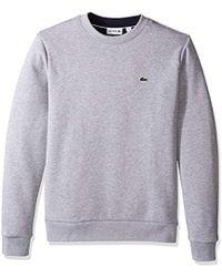 Lacoste - Long Sleeve Fleece Crew Sweatshirt - Lyst