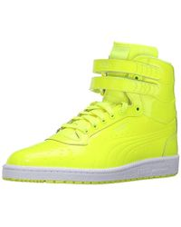 PUMA - Sky Ii Hi Patent Emboss Fashion Sneaker - Lyst