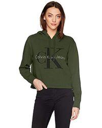 Calvin Klein - Jeans Monogram Logo Hoodie Sweatshirt, Greener Pasture, Xl - Lyst