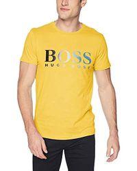 BOSS - Regular/classic-fit Logo-graphic Cotton T-shirt - Lyst