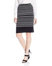 Rafaella - Striped Tube Skirt - Lyst