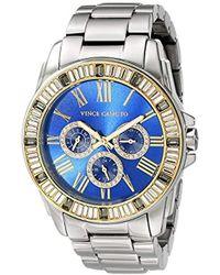 Vince Camuto - Vc/5159bllg Multi-function Blue Dial Light Grey Bracelet Watch - Lyst