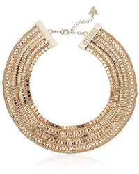"""Guess - S Multi Chain Statement Necklace 16"""" With 2"""" Extender - Lyst"""