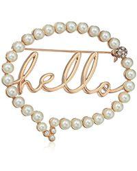 Betsey Johnson - S Hello Bubble Pin - Lyst
