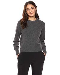 Theory - Drop Shoulder Crewneck Sweater - Lyst