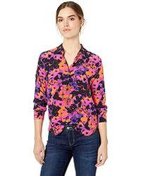 f68655f62297f6 Equipment - Leema Floral Printed Crepe De Chine Shirt - Lyst