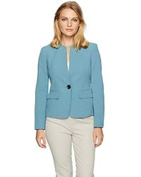 Kasper - Petite 1 Button Jacket With Front Pockets - Lyst