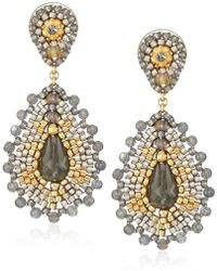 Miguel Ases - Labradorite Small Tear Drop Earrings - Lyst