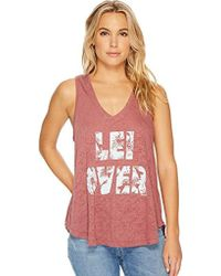 O'neill Sportswear - Lei Over Screen Print Tank - Lyst