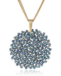 """Kenneth Cole - """"woven"""" Faceted Bead Pendant Necklace, 20"""" - Lyst"""