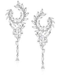 Nina - S Fern Front/back Chandelier Earrings - Lyst