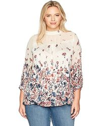 Lucky Brand - Plus Size Floral Mixed Print Top - Lyst