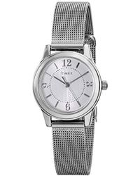 Timex - T2p457 Casey Dress Silver-tone Stainless Steel Mesh Bracelet Watch - Lyst