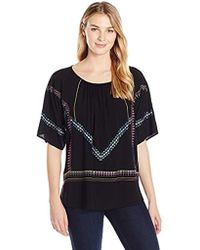 James & Erin - Multicolor Embroidered Top - Lyst