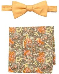 Tommy Bahama - Solid Bow Tie And Jungle Pocket Square Set - Lyst