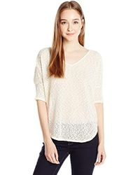 Jessica Simpson - Elinah Boat Neck Pullover-antique White - Lyst