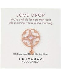 Dogeared - 'petal Box' Love Drop Heart Token Charm - Lyst
