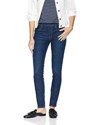 fce138dbf8ca1 7 For All Mankind High Waist Slim Kick Jeans In White Runway Denim in White  - Lyst