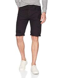 Buffalo David Bitton - Parker-x Slim Fit Whiskered And Repaired Denim Short - Lyst