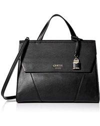 Lyst - Guess Casey Top Handle Flap Handbag 59f09ac6d644b