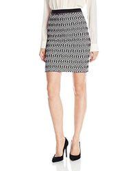 Rafaella - Petite Size Geometric Jacquard Skirt - Lyst