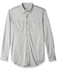 c052818bd007 Carhartt - Tall Big   Tall Flame Resistant Force Cotton Hybrid Shirt - Lyst