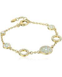 Fossil - S Vintage Glitz Crystal Bracelet - Lyst