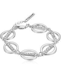 T Tahari - S Essentials Linked Ovals Bracelet, Silver, One Size - Lyst