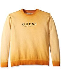 All Mens Sale Guess >> Men S Guess Crew Neck Sweaters On Sale Lyst