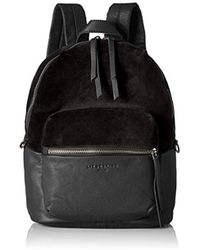Liebeskind Berlin - Stanfordw7 Velvet And Leather Backpack - Lyst