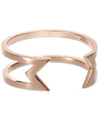 Campbell - Empty Knuckle Inverted Triangle Ring - Lyst