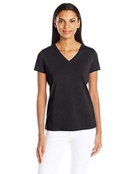 Nautica - Short Sleeve Stretch V Neck Solid Tshirt - Lyst